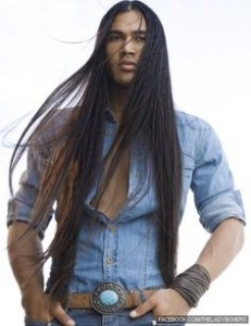 long american indian hair